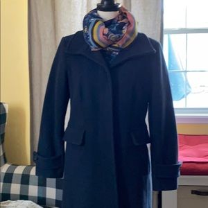Lands End Navy Trench Coat